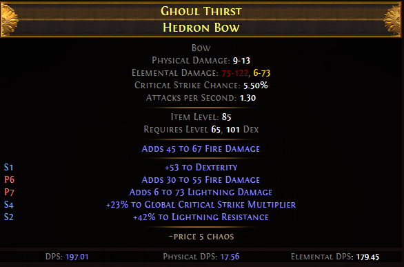Ghoul Thirst Hedron Bow