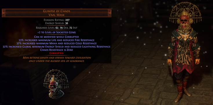 Glimpse of Chaos Vaal Mask