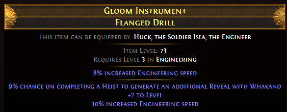 Gloom Instrument Flanged Drill