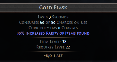 Gold Flask PoE