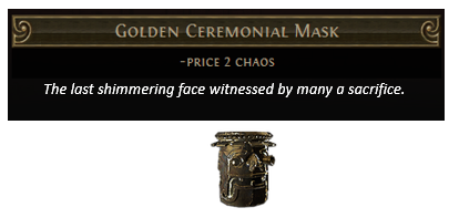 Golden Ceremonial Mask