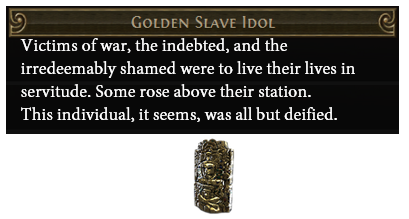Golden Slave Idol