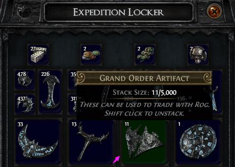 Grand Order Artifact PoE