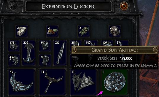 Grand Sun Artifact PoE