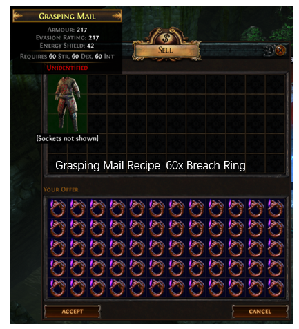 Grasping Mail Recipe
