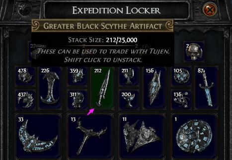 Greater Black Scythe Artifact PoE