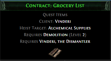 Contract: Grocery List