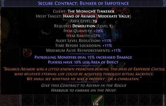 Hand of Arimor Contract