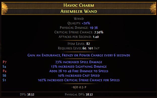 Havoc Charm Assembler Wand