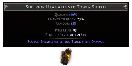 Heat-attuned Tower Shield