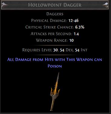 Hollowpoint Dagger