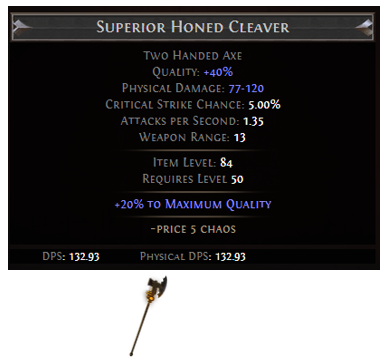 Honed Cleaver