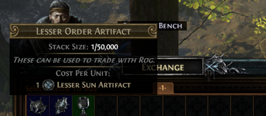 How to use Lesser Sun Artifact