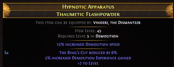 Hypnotic Apparatus Thaumetic Flashpowder