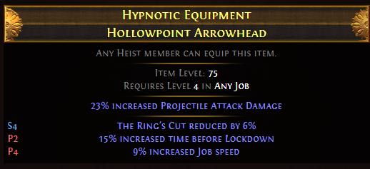 Hypnotic Equipment Hollowpoint Arrowhead