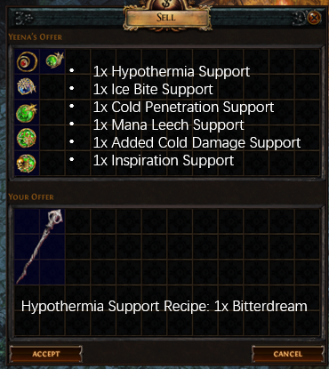 Hypothermia Support Recipe