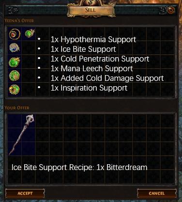 Ice Bite Support Recipe