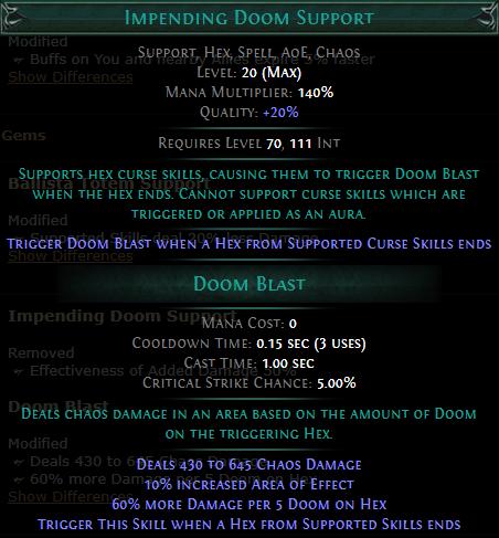 Impending Doom Support