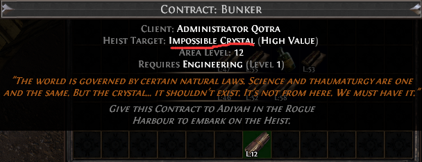 Impossible Crystal Contract
