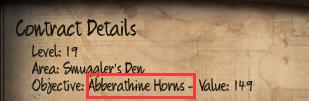Initial Abberathine Horns