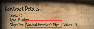 Initial Admiral Proclar's Pipe