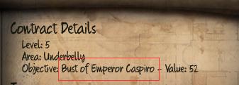 Initial Bust of Emperor Caspiro