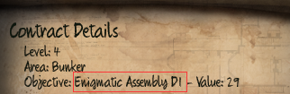 Initial Enigmatic Assembly D1