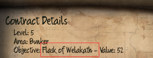 Initial Flask of Welakath