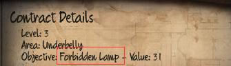 Initial Forbidden Lamp