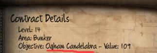 Initial Ogham Candelabra