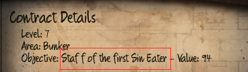 Initial Staff of the first Sin Eater