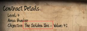 Initial The Golden Ibis