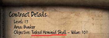 Initial Tusked Hominid Skull