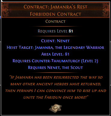 Contract: Jamanra's Rest