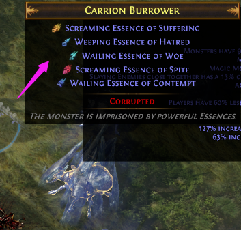 Kill a monster with five Essences in an area level of 80 or higher