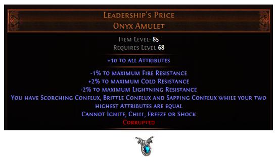 Leadership's Price