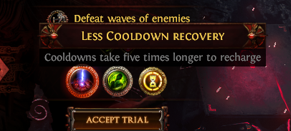 Less Cooldown recovery