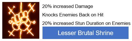 Lesser Brutal Shrine PoE