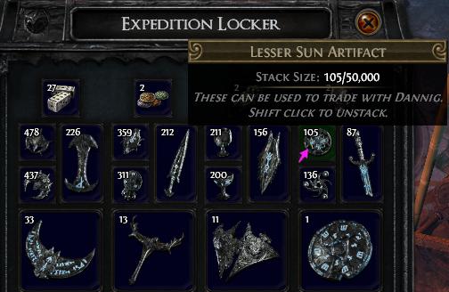 Lesser Sun Artifact PoE