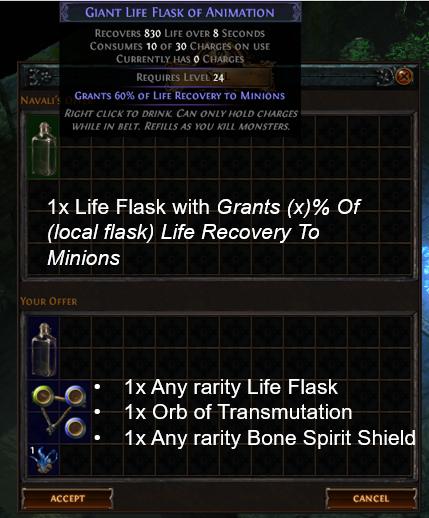 Life Flask craft recipe