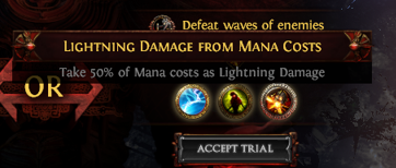 Lightning Damage from Mana Costs