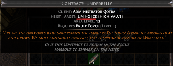 Living Ice Contract