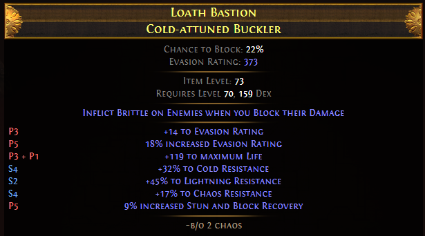 Loath Bastion Cold-attuned Buckler