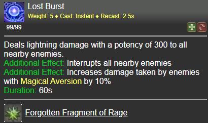 Lost Burst FFXIV