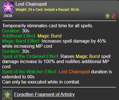 Lost Chainspell FFXIV