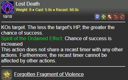 Lost Death FFXIV