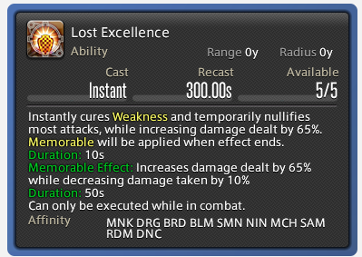 Lost Excellence FFXIV