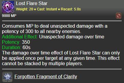Lost Flare Star FFXIV