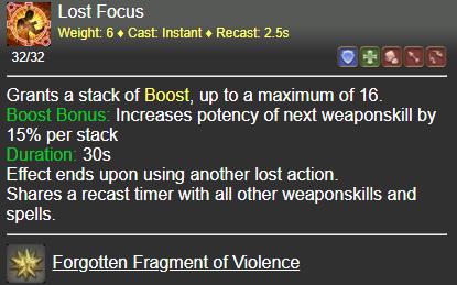 Lost Focus FFXIV