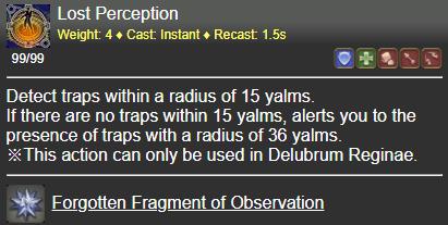 Lost Perception FFXIV